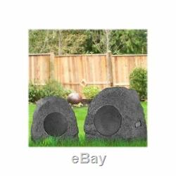 Bluetooth Outdoor Speakers 2 Pc Wireless Waterproof Cordless 33' Backyard Party
