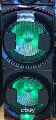 Bluetooth Party DJ Speaker Dual 15 inch with Equalizer + Lights + Wireless Mic