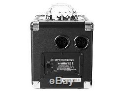 Bluetooth Portable Party Speaker Color Lights Disco Ball AUX MIC Inputs Karaoke