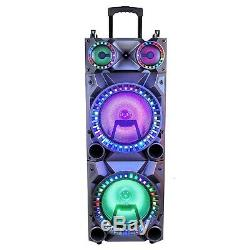Bluetooth Rechargeable 12 Double Subwoofer Portable Party Speaker beFree Sound
