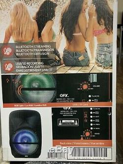 Bluetooth speaker portable QFX 8000 Watts P. M. P. O 12 Party Speaker Rechargeable