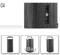 Brookstone Big Blue Party Indoor-Outdoor Bluetooth Speaker, with charging cable