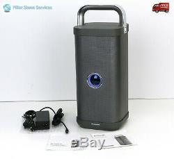 Brookstone Big Blue Party Indoor-Outdoor Bluetooth Waterproof Speaker New Power