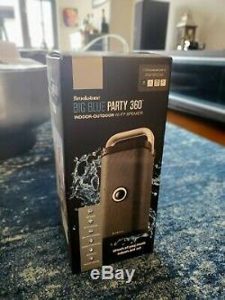 Brookstone Big Blue Party Indoor-Outdoor Bluetooth WiFi Speaker -RARE MINT