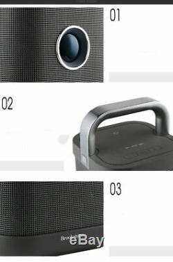 Brookstone indoor outdoor NFC high power waterproof wireless bluetooth speaker