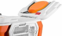 Coolest Cooler Party Blender Bluetooth Speaker, LED, USB Charger, Plates, ORANGE