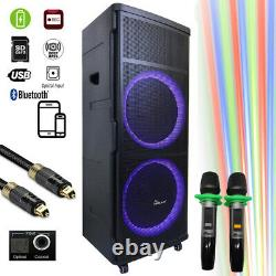 DJ06 Bluetooth Rechargeable Party Speaker With Optical Loa Kéo Di ng