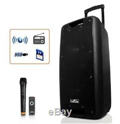 DUAL 10 BLUETOOTH Portable PA PARTY Rechargeable SPEAKER System with MIC & REMOTE