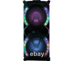 Daewoo 60w Home Garden Karaoke Party Bluetooth Trolley Speaker Colour Lights &