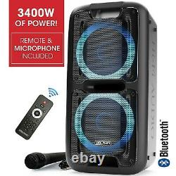 Dolphin PartyBox 3400W Bluetooth Tailgate Party Speaker System with Lights & TWS