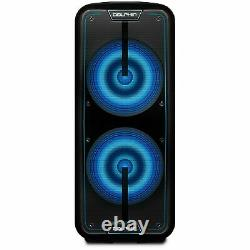 Dolphin SP-1090RBT Rechargeable Dual 15 Inch Party Speaker with Battery 4100W
