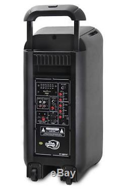 Dolphin SP-28RBT Portable Bluetooth Party Speaker Lights, Battery, Aux-Out