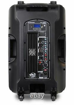 Dolphin SPX-180BT ELITE Series 15 DJ Party Speaker with RAVE Light 5500 Watts