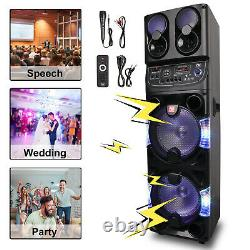 Dual 10 BT Portable Party Bluetooth Speaker Rechargeable with Remote control