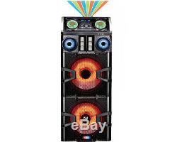 Dual 15 DJ PRO Mega Home Party Speaker System Bluetooth Stereo Disco Effect