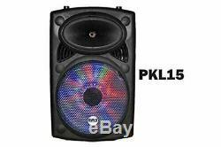 EMB 15 Rechargeable Portable DJ PA Speaker / Bluetooth/ karaoke LED 1700 watt