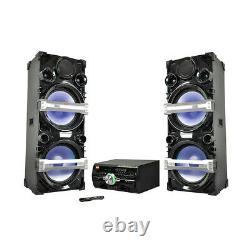 Edison Professional PS4500 Dual Tower Party System with Karaoke