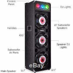 Frisby FS-4080ST Bluetooth Karaoke Amplified Speaker System with DJ Party Lights