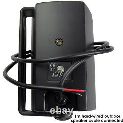 Garden Party/BBQ Outdoor Speaker KitWireless Mini Stereo Amp & 2 Black Speakers