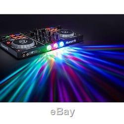 Gemini 15 Powered Bluetooth Speakers w Numark Party Mix DJ Controller & Lights