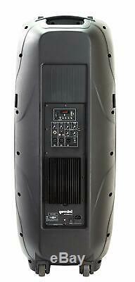 Gemini Dual 15 2000W Bluetooth Party DJ Speaker with LED Light Show