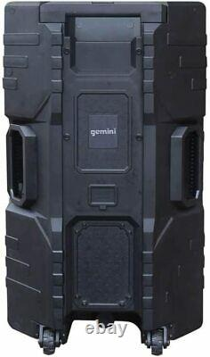 Gemini Portable Water Resistant Bluetooth Party Speaker with Stand & Mic