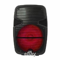 Gemini Pro Audio 15 Inch Portable Wireless Trolley Bluetooth LED Party Speakers