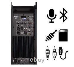 Gemini Pro DJ Audio 2200 Watt Portable Bluetooth Media PA System Party Speakers