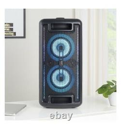 Groove ONN 80W Large Party Speaker with LED Lighting Black. Bluetooth