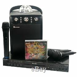 HOME KARAOKE MACHINE PACK. Player, Bluetooth Speaker, Party Lights, Wireless Mic