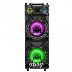 Holiday Party Speaker QFX 12'' DJ Surround LED Lights Bluetooth, 3 Inputs