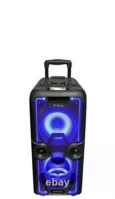 IDance Megabox 2000 Portable bluetooth party speaker with wireless microphone