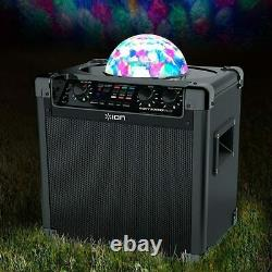ION Audio Party Rocker Plus Portable Bluetooth Party Speaker System Disco Ball