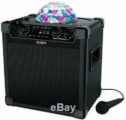 ION Audio Party Rocker Plus Portable Bluetooth Party Speaker System & Karaoke
