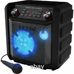 ION Game Day Lights Wireless Bluetooth Rechargeable Party Speaker with Microphone