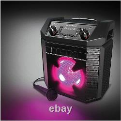 ION Party Boom 100W High-Power Bluetooth Rechargeable Speaker with Mic & Lights