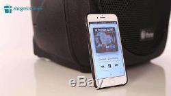 IRocker Portable Party Loud Speaker System on Wheels 1500W Bluetooth USB RCA FM