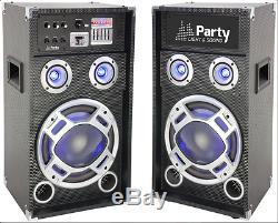 Ibiza Party Karaoke 12 Sound System 600W DJ Disco LED Lighting Bluetooth USB