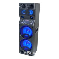 Ibiza Sound TS450 2 x 10 Sound System 450W LED Lighting Speaker PA DJ Party