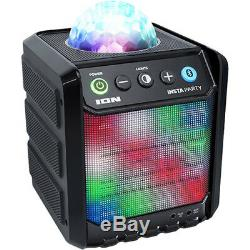Ion Insta Party Rechargeable Bluetooth Wireless Speaker with Disco Party Lights