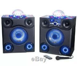 Ion Mega Party Express Speaker Light Show 600W Bluetooth Led FM Radio PA System