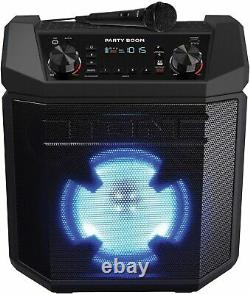 Ion Party Boom High-Power Rechargeable Portable Bluetooth Speaker with Lights