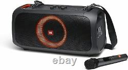 JBL PartyBox On-The-Go Portable Party Speaker with Built-in Lights Black