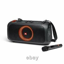 JBL PartyBox On-The-Go Portable Party Speaker with Built-in Lights Black-Renewed