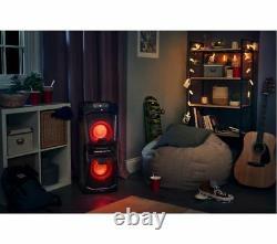 JVC MX-D528B Wireless Bluetooth Megasound HiFi Party Speaker System Disco Lights