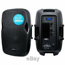 Kam 1000W 12 Active Bluetooth Powered Speaker DJ House Party Speaker USB SD