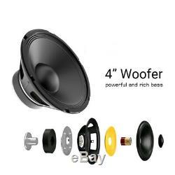 Karaoke Party Machine System Bluetooth Speaker PA Jukebox Guitar Amplifier USB