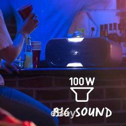 KitSound Slam XL Bluetooth Party Disco Light Speaker Black