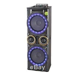 Large 12x2 Inch Woofer Tweeter Combo Portable Bluetooth Party Speaker Usb Sd Fm