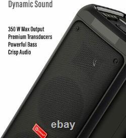 Loud High Power TWS Party Speaker, Bluetooth Wireless Audio PA System w Lights